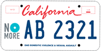 AB 2321 - No More Domestic violence license plate